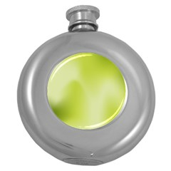 Green Soft Springtime Gradient Round Hip Flask (5 Oz)