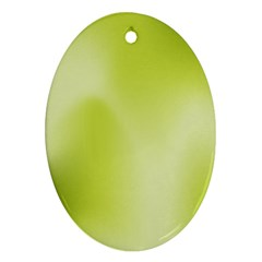 Green Soft Springtime Gradient Oval Ornament (two Sides) by designworld65