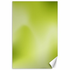 Green Soft Springtime Gradient Canvas 24  X 36  by designworld65