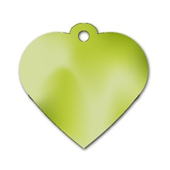 Green Soft Springtime Gradient Dog Tag Heart (Two Sides)