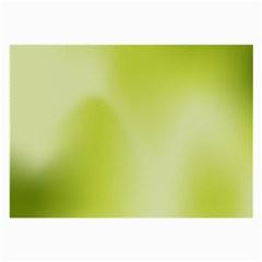 Green Soft Springtime Gradient Large Glasses Cloth