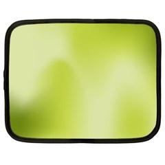 Green Soft Springtime Gradient Netbook Case (large) by designworld65