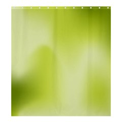 Green Soft Springtime Gradient Shower Curtain 66  X 72  (large)
