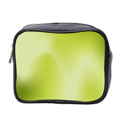 Green Soft Springtime Gradient Mini Toiletries Bag 2 Side by designworld65