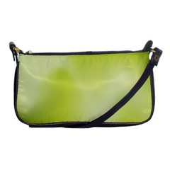 Green Soft Springtime Gradient Shoulder Clutch Bags