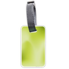 Green Soft Springtime Gradient Luggage Tags (one Side)
