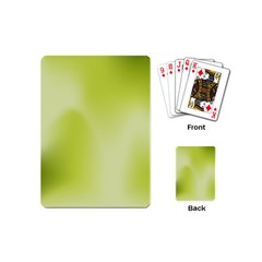 Green Soft Springtime Gradient Playing Cards (mini)