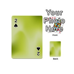 Green Soft Springtime Gradient Playing Cards 54 (Mini)