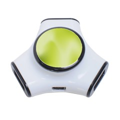 Green Soft Springtime Gradient 3 Port Usb Hub