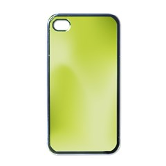 Green Soft Springtime Gradient Apple Iphone 4 Case (black)