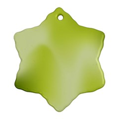 Green Soft Springtime Gradient Snowflake Ornament (two Sides)