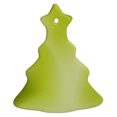 Green Soft Springtime Gradient Christmas Tree Ornament (two Sides) by designworld65