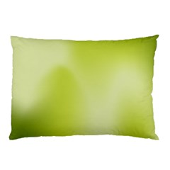 Green Soft Springtime Gradient Pillow Case (two Sides)