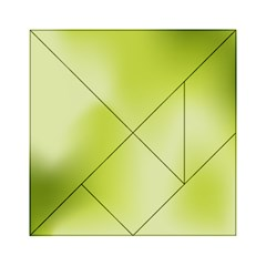 Green Soft Springtime Gradient Acrylic Tangram Puzzle (6  X 6 )