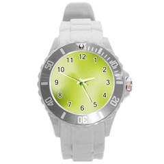 Green Soft Springtime Gradient Round Plastic Sport Watch (L)