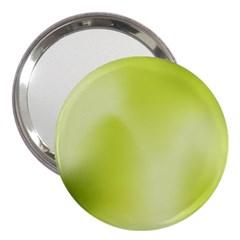 Green Soft Springtime Gradient 3  Handbag Mirrors