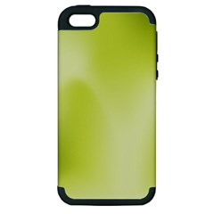 Green Soft Springtime Gradient Apple Iphone 5 Hardshell Case (pc+silicone)