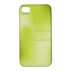 Green Soft Springtime Gradient Apple Iphone 4/4s Hardshell Case With Stand
