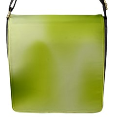 Green Soft Springtime Gradient Flap Messenger Bag (s)