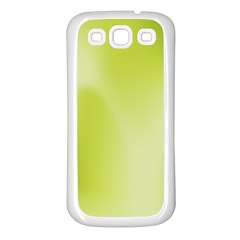 Green Soft Springtime Gradient Samsung Galaxy S3 Back Case (white)