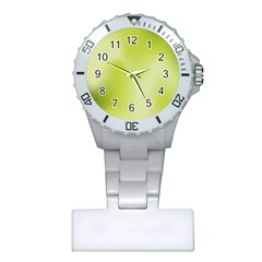 Green Soft Springtime Gradient Plastic Nurses Watch