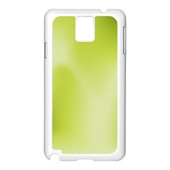 Green Soft Springtime Gradient Samsung Galaxy Note 3 N9005 Case (white)