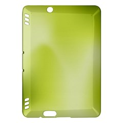 Green Soft Springtime Gradient Kindle Fire Hdx Hardshell Case by designworld65
