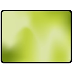 Green Soft Springtime Gradient Double Sided Fleece Blanket (large)