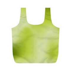 Green Soft Springtime Gradient Full Print Recycle Bags (M)