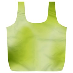 Green Soft Springtime Gradient Full Print Recycle Bags (l)