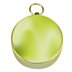 Green Soft Springtime Gradient Gold Compasses