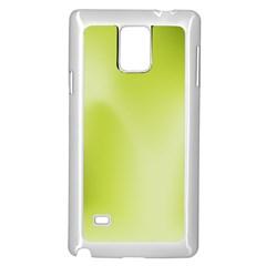 Green Soft Springtime Gradient Samsung Galaxy Note 4 Case (White)