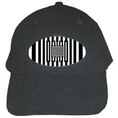 Black Stripes Endless Window Black Cap
