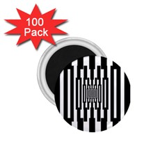 Black Stripes Endless Window 1 75  Magnets (100 Pack)