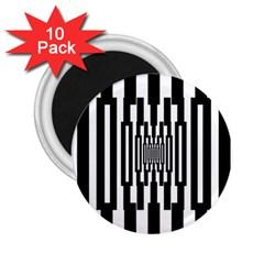 Black Stripes Endless Window 2 25  Magnets (10 Pack)