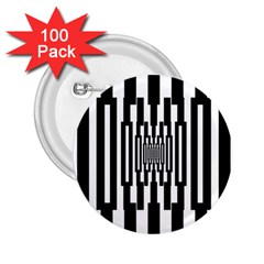 Black Stripes Endless Window 2 25  Buttons (100 Pack)  by designworld65