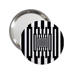 Black Stripes Endless Window 2 25  Handbag Mirrors