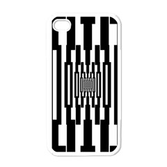 Black Stripes Endless Window Apple Iphone 4 Case (white)