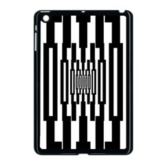 Black Stripes Endless Window Apple Ipad Mini Case (black) by designworld65
