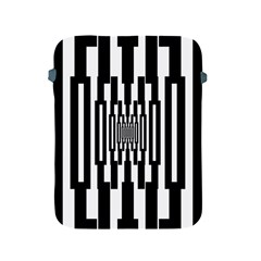 Black Stripes Endless Window Apple Ipad 2/3/4 Protective Soft Cases