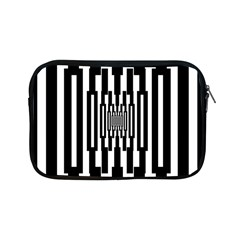 Black Stripes Endless Window Apple Ipad Mini Zipper Cases by designworld65