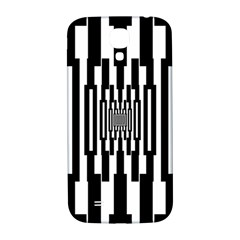 Black Stripes Endless Window Samsung Galaxy S4 I9500/i9505  Hardshell Back Case