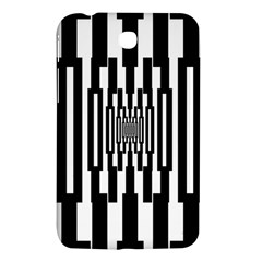 Black Stripes Endless Window Samsung Galaxy Tab 3 (7 ) P3200 Hardshell Case