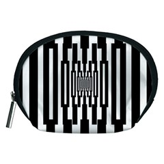 Black Stripes Endless Window Accessory Pouches (medium)