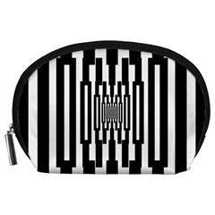 Black Stripes Endless Window Accessory Pouches (large)