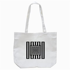 Black Stripes Endless Window Tote Bag (white)