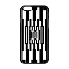 Black Stripes Endless Window Apple Iphone 6/6s Black Enamel Case