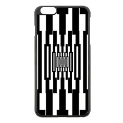 Black Stripes Endless Window Apple Iphone 6 Plus/6s Plus Black Enamel Case
