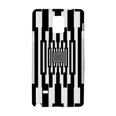Black Stripes Endless Window Samsung Galaxy Note 4 Hardshell Case