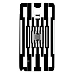 Black Stripes Endless Window Galaxy Note 4 Back Case